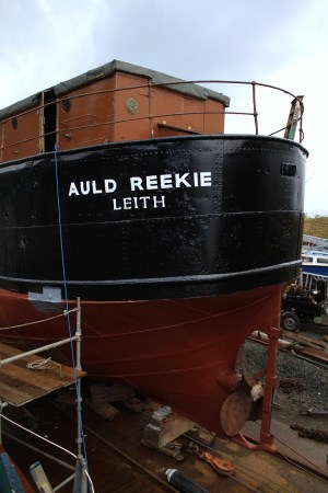 Steam puffer refurbishment at Crinan Boatyard