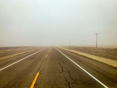 Nothing but fog.
