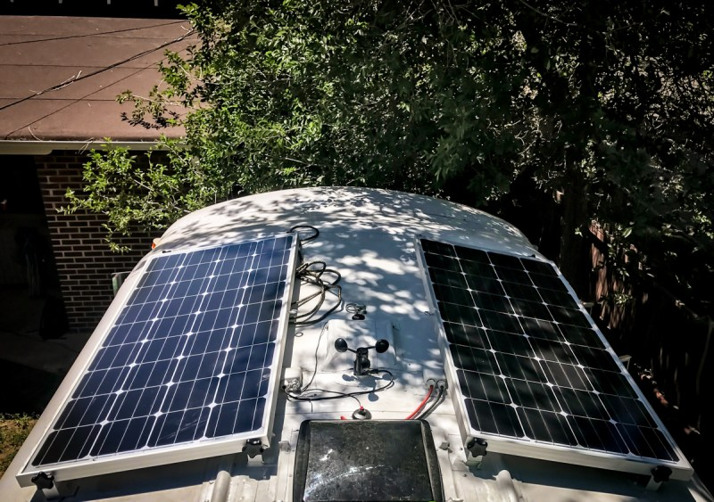 Solar Panels Mounted on the Roof