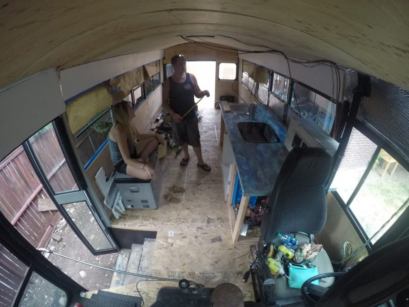 Bus With Beginnings of the Kitchen