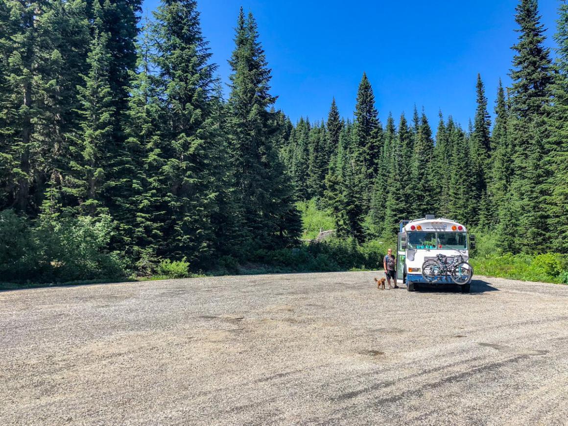 north cascades national park, washington state, hiking, trailhead parking, bus living