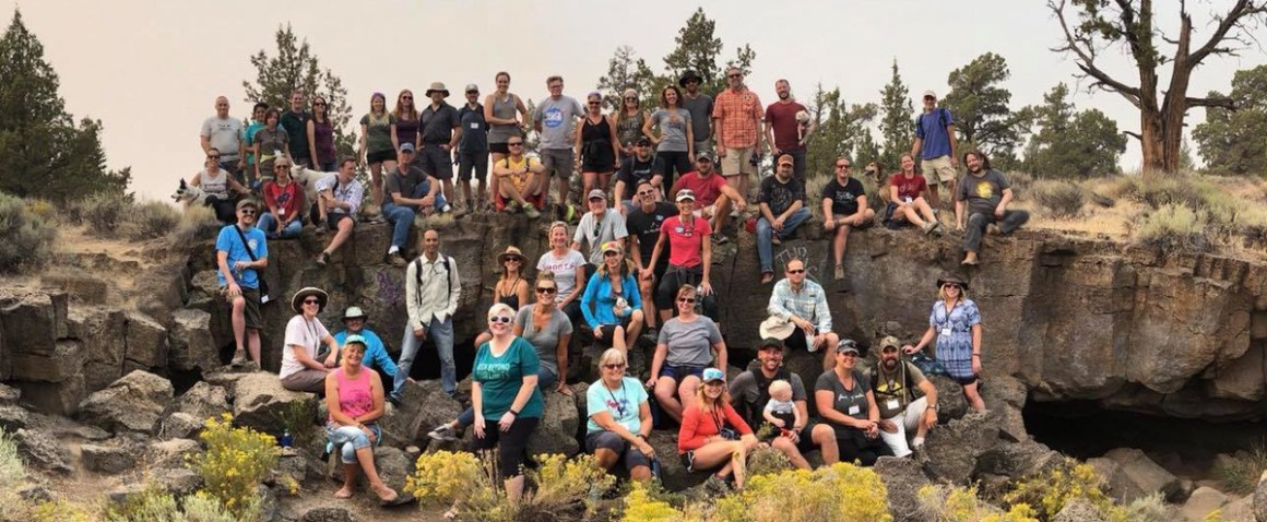 Lava caves group photo