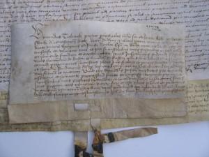 1502 akte van bevestiging Vicarie met transfix van pastoor van de St. Jacobskerk te Winterswijk