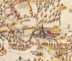 kaart oost Achterhoek 1599 detail