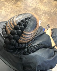 Braided mohawk Natural Protective hairstyl top