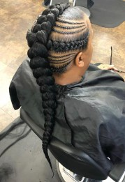 Braided mohawk Natural Protective hairstyle