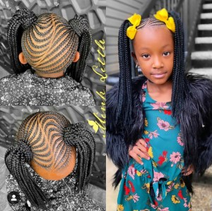 Cute pigail braided hairstyle for girls