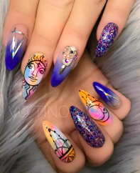 Gorgeous astrology nail designs perfect for summer