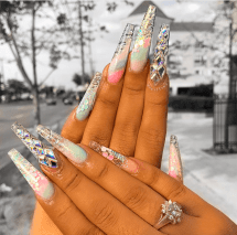Water color nail designs perfect for summer