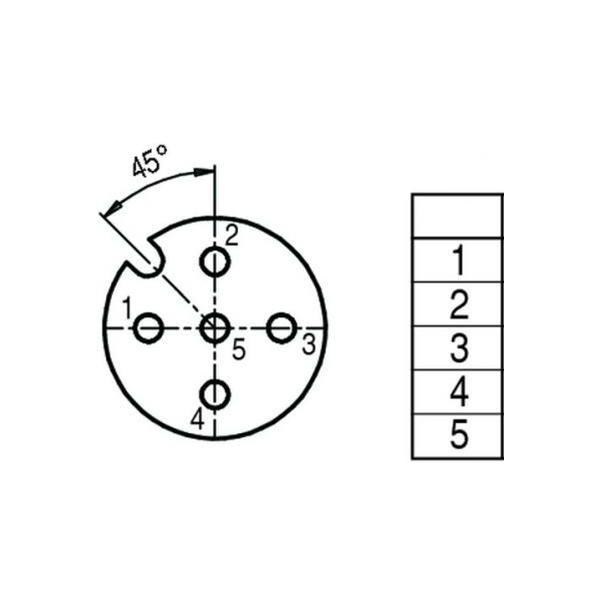 Binder Connecteur M12 fem. 5 pôles 99 1436 812 05