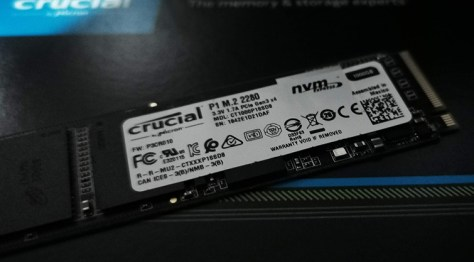 Crucial 1GB P1 NVMe PCIe 2280 M.2 solid state drive review