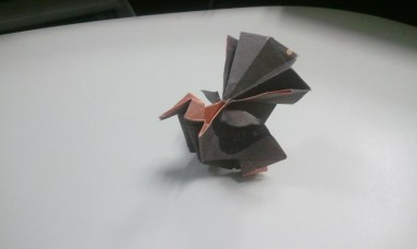 Origami turkey (designed by Gen Hagiwara)