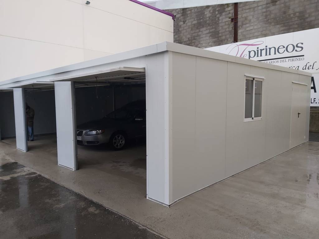 Montaje de Garaje Modular en Huesca