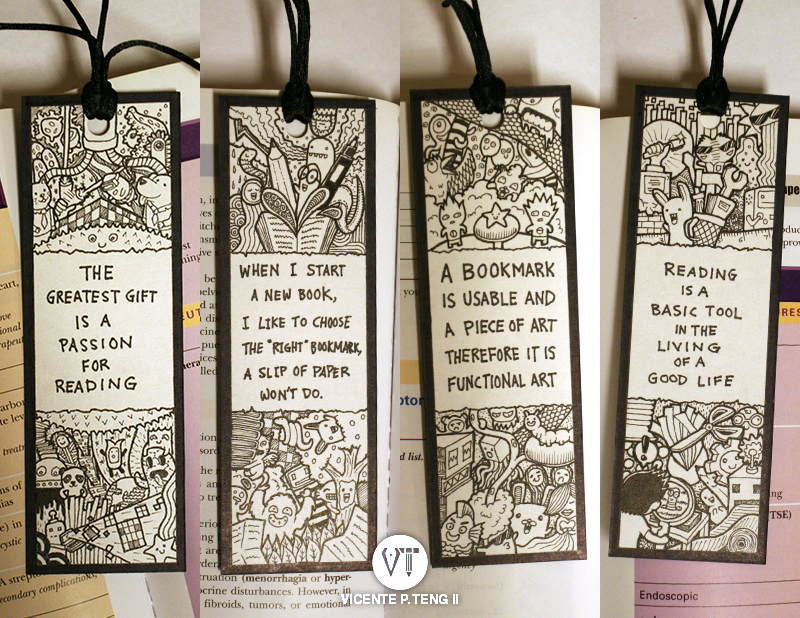 The Doodle Bookmarks VICENTE TENG II