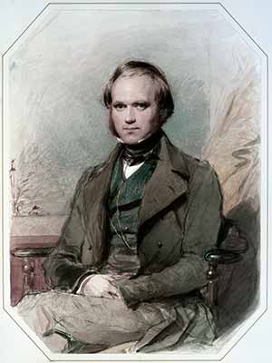 Charles Darwin Charles Darwin - portrait by George Richmond, 1840. CD, English scientist: 12 February 1809– 19 April 1882. GR, English painter: 28 March 1809 – 19 March 1896.