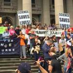 March for Science in Melbourne, Australia, on 22nd April, 2017, on the steps of the State Library in Swanston Street