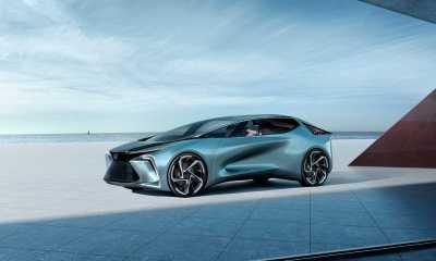 """O Lexus LF-30 Electrified conta com portas """"Asa de Gaivota"""", bancos com alto-falantes integrados e função de cancelamento de ruído."""