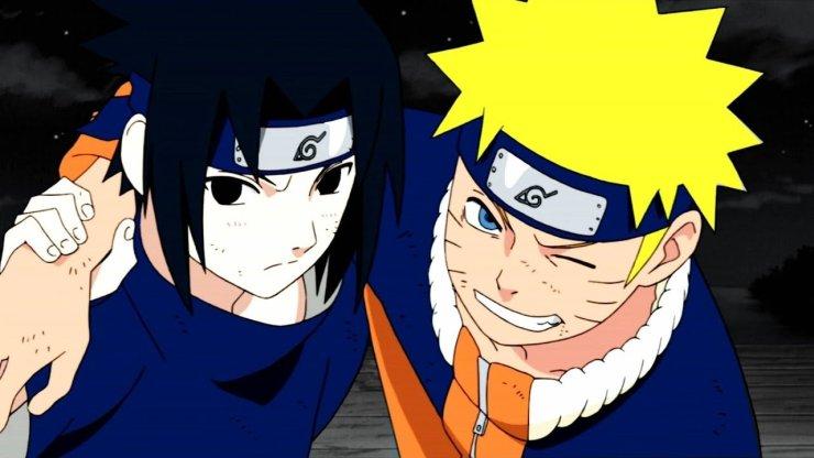 O anime focou muito na rivalidade de Naruto com Sasuke.