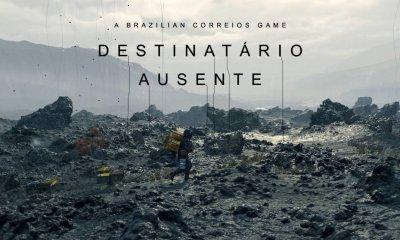 """Uma versão pra lá de curiosa de Death Stranding, foi criada pelo brasileiro Leonardo Henrique, que criou """"A Brazilian Correios Game Destinatário Ausente""""."""