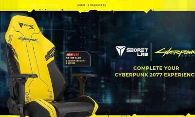 As cadeiras para jogos Cyberpunk 2077, amarelas e pretas, estão agora disponíveis em quantidades limitadas, em parceria com a Secretlab.