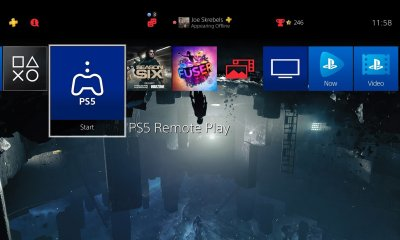 Um aplicativo de para jogar remotamente jogos do PS5 apareceu no painel do PS4, mas atualmente não consegue conectar os dois consoles.