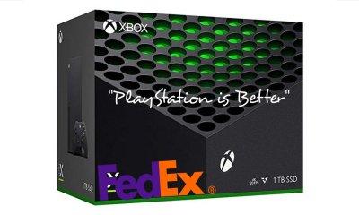 Um motorista da FedEx fez a entrega de um Xbox Series X, mas fazendo questão de dizer que o PlayStation 5 é o melhor console.