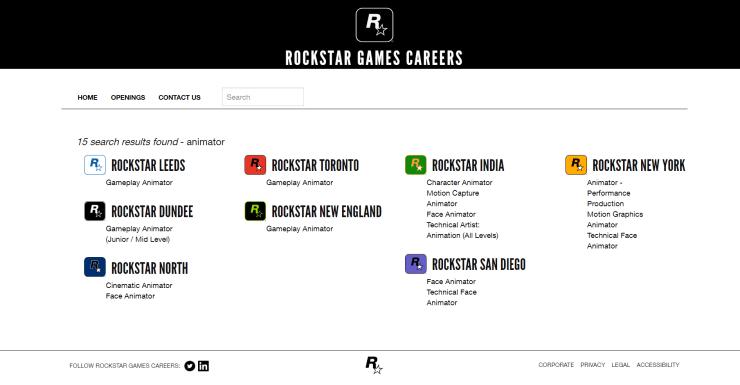 GTA 6? Site da Rockstar Games tem dezenas de ofertas de trabalho!