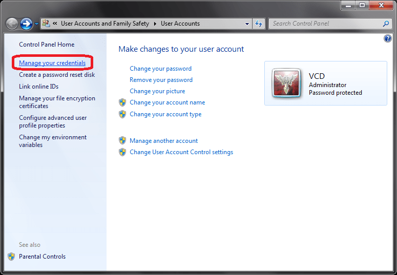 Delete Saved Password for Network Drive, Microsoft Outlook, XP Mode, etc, in Windows (2/2)