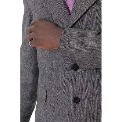 Kwame Classic Single Breasted Jacket JK002-BLK/WH