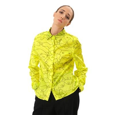 Classic Cotton Shirt SH001-YLW/BK