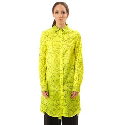 Long Cotton Shirt SH002-YLW