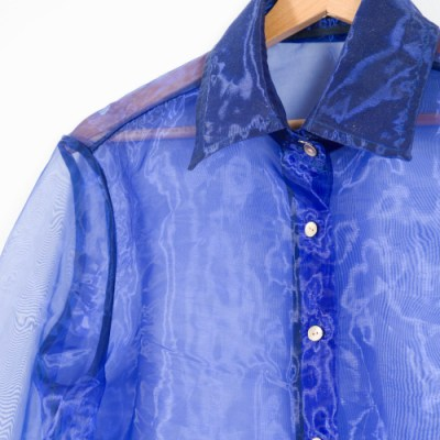 Camicia organza blu 036O