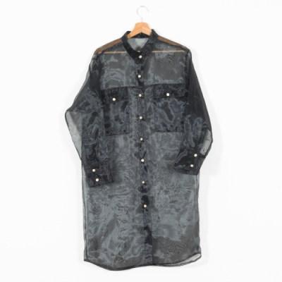 Camicia donna lunga organza 050O