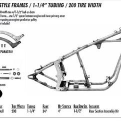 Harley Softail Frame Diagram Suzuki Intruder 1500 Wiring Style 1 25 Tubing 200 Rear Tire Custom