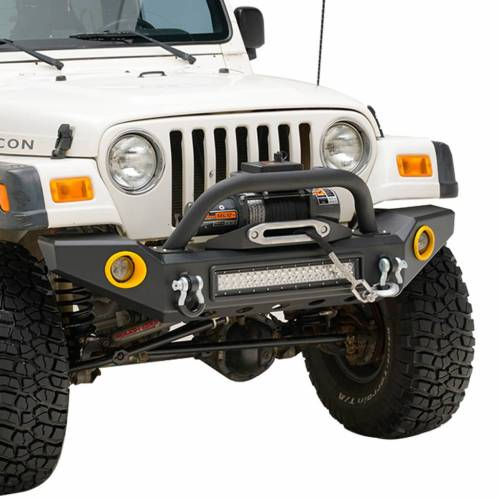 small resolution of e autogrilles eag 87 06 jeep wrangler tj yj front bumper with