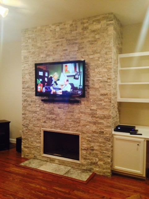 Fireplace Remodel  Garden Oaks The Heights Houston  Vick Construction