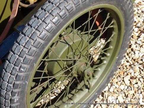 Motorcycle wheel with drum