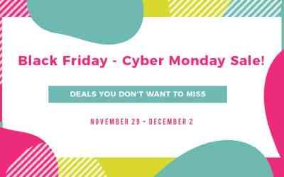 Black Friday-Cyber Monday Sale!