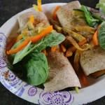 Mediterranean Hummus & Roasted Veggie Wrap