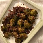 Balsamic Glazed Brussel Sprouts with Red Onion