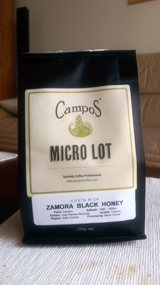 Campos Coffee: Zamora Black Honey Micro Lot