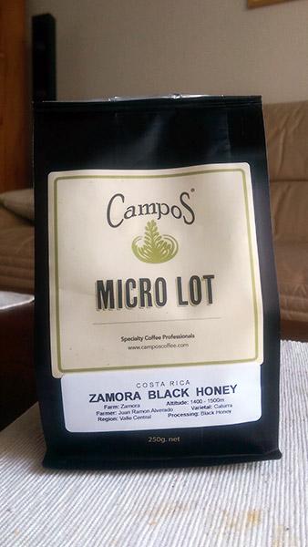 Campos Coffee: Zamora Black Honey Micro Lot
