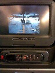 TV on Flight CX504 (Boeing 777)