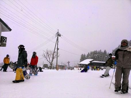 Nozawa Onsen: Bottom of Green Slope