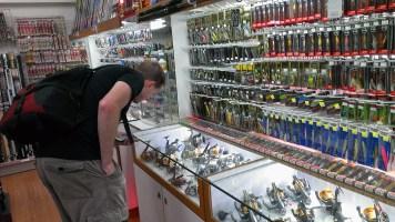 Day 3: Richard at the Fishing Tackle Shop