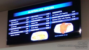 Billy's Chinese Kitchen, Club Redfern: Digital Menu Board
