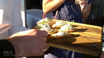 Tea Room Gunners Barrack: Canape: Kingfish