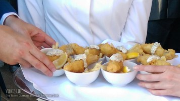 Tea Room Gunners Barrack: Canape: Fish and Chips