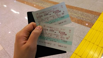 Ski Trip Jan 2015 D1: Double Train Tickets