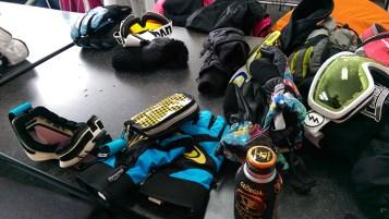 Ski Trip Jan 2015 D2: Lunch Table at Break